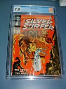 Silver Surfer 3 Cgc 7.0 Silver Age Key Ow 1st Mephisto 1968 Watcher Backup