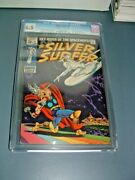 Silver Surfer 4 Cgc 6.5 Silver Age Key Ow 1st Surfer Vs Thor Iconic Cover 1969