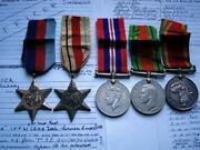 Captain Ww2 Africa 1939-45 Star South African General Service Corps Ghq Medal
