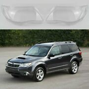 Fits For Subaru Forester 3rd Gen. 08-12 - Headlight Lens Plastic Covers Pair