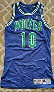 Howard Isley Minnesota Timberwolves Game Worn Used Photo Match Jersey Kevin...