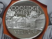 1972 Franklin Mint Proof Silver Medal Vermont - Coolidge Homestead