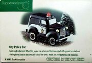 Dept 56 Christmas In The City City Police Car 58903 W/light Up Red Beacon