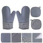 1 Set Practical Durable Portable Oven Oven Mitts Pot Holder For Hold Pot