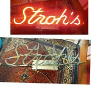 Vintage Strohs Neon Beer Sign 25 Everbrite Works Great Local Pickup Only