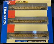 Walthers Ho Scale Ttx 620549. 3pc Set. Nsc 3-unit 53' Well Car 932-3941