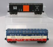 Lionel 6464-275 State Of Maine Boxcar And 6464-425 New Haven Boxcar