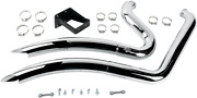 Vance And Hines Chrome Scalloped 2 Into 2 Motorcycle Exhaust System 06-10 Big Dog