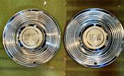 Pontiac Hubcaps Set Of 2 Unknown Year Vintage 50andrsquos Or 60andrsquos Possibly