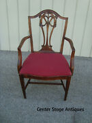 59238 Set Of 4 Antique Mahogany Shield Back Dining Room Chairs