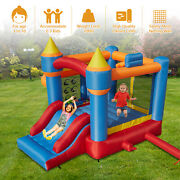Kids Inflatable Bounce House Castle Jumper Slide Bouncer W/ Blower Outdoor Toy