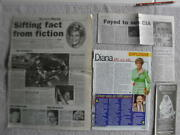 Princess Diana English Royalty Large 100 Magazine And Newspaper Clippings Lot 32