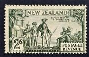 New Zealand Sg 568 - 1935 2s Captain Cook Olive Green Stamp Used - Cv 50 - 627a