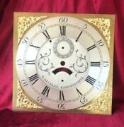 Nice Antique 30 Hour Grandfather/longcase Clock Brass Square 12in Dial