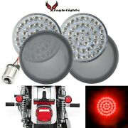 Eagle Lights 2 Inch Red Rear Led Turn Signals For Harley Davidson Motorcycle ...