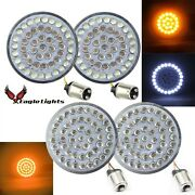 Eagle Lights 2 Inch Front 1157 And Rear Amber 1156 Led Turn Signal Kit Wi...
