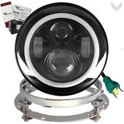 Eagle Lights 9100br 7 Inch Led Headlight With Halo Ring For Harley Davidson M...
