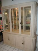 50 Sale Midcentury Arcese Brothers Light China Cabinet Credenza Hutch Naples Fl