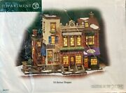 Retired Dept. 56 5th Avenue Shoppes Christmas In The City New 59212 Sealed