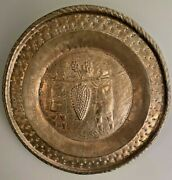 Very Large Pre 18th Century Alms Dutch Plate Spies Canaan Museum Quality Brass