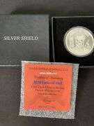 Silver Shield 2020 Gates Of Hell Proof Ussa Coa 452 One Ounce Coin With Box