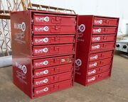 4 Lg. Hi-line Cabinets 16 Trays Of Aviation Fasteners Bolts Screws Washers.