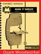 Shopsmith Magna 11 Bandsaw Attachment 630 Owner Instruction Parts Manual 1294
