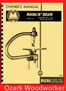 Shopsmith Magna 18 Jig/scroll Saw Attachment Model 610 Owner Parts Manual 1295