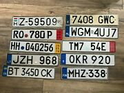 Set 10 License Plate From Finland Sweden Ukraine Czech Hungary Spain Germany ..