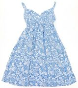 New Disney Cruise Line Dcl Castaway Cay Blue Print Womenand039s Dress S-2xl