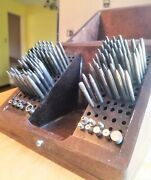 Vintage Marshall Moseley Staking Set Box Watchmakers Repair Tool Stakes Stumps