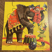 Vintage Sifo Co 1957 Wooden Puzzle Circus Extremely Rare