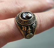 1979 University Of Southern California College Jostens 10k Gold Class Ring Usc