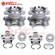 Front And Rear Wheel Bearing Hub Assembly For 04-08 Nissan Maxima 02-06 Altima V6