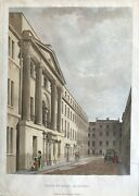 1795 Antique Print John Adam Street Adelphi London After Thomas Malton