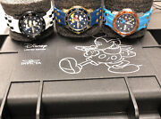 Disney Watches Goofy 38mm 23772 Mickey Mouse Blue Black Ladies Lot Of 3