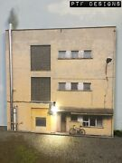 G Scale Scratch Built Industrial 11 Store Building Led Front/flat 1/24 1/32