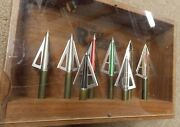 Vintage Archery Barrie Rocky Mountain Broadhead Display 8 Different Heads