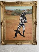 Painting By John A. Gardner - An Aboriginal Man Ceremonial Body Decorations 1981