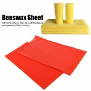 2 Pcs/set Beeswax Sheet Rubber Comb Foundatio N Press Mold Beekeeping Acces Red
