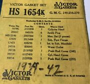 1939 1940 1941 1942 Gmc 248 256 270 Replaces 2135594 Head Gasket Set - Sealed