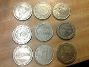9 Different Casino Tokens Dollar Size Those Were The Days Slot Machine Medals