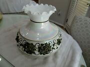 Vtg Aladdin Globe Lamp Shade With Metal Flowers On Irresdecent Glass Top L4.19.2