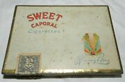 Vintage Sweet Caporal Cigarette Flat Fifty Tin Empty