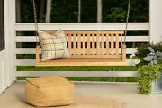 Jack Post H-24 Jennings 4ft Swing With Chains Andndashnatural Finish Brown Wooden Swing