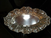 Reed And Barton Frances Sterling Silver Oval Bread Tray X568