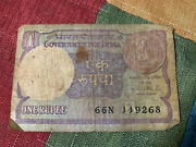 1986 Indian One Rupees Note Antique Collectors Rare