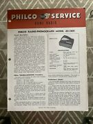 Philco Radio Phonograph 49-1401 Service Manual Original Andndash The Boomerangandnbsp