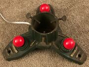 Vintage Antique Cast Iron Lighted Christmas Tree Stand