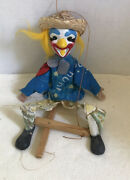 Vintage Mexican String Puppet, Mexican Clown Marionette, Vintage Toy 16